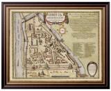 Старинная карта Москвы - Кремленаград